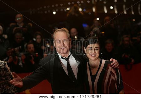 Actor Stellan Skarsgard attends the 'Return to Montauk' (Rueckkehr nach Montauk) ' premiere during the 67th Berlinale Film Festival Berlin at Berlinale Palace on February 15, 2017 in Berlin, Germany.