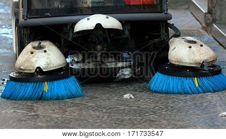 Street Sweeper. Front View.