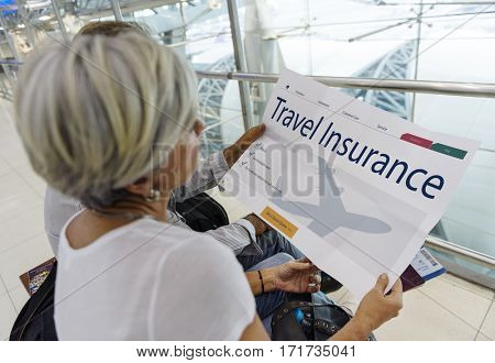 Old couple travel insurance webpage