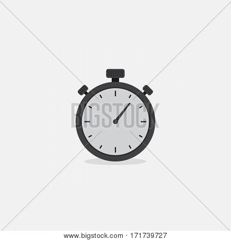 Flat Analog Stopwatch. Vector Illustration of analog Stapwatch