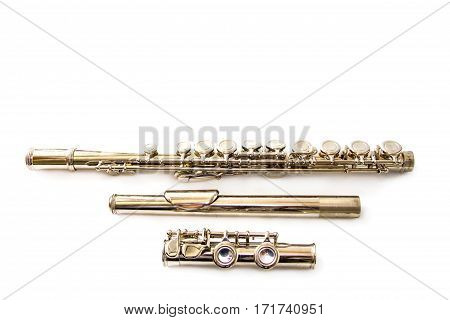 Flute music Flute instrument isolated on white background
