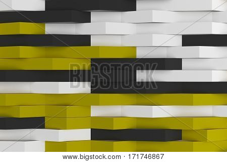 Abstract 3D Rendering Of Matte Plastic Waves