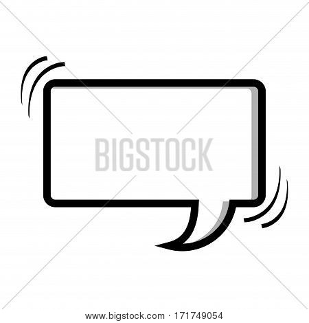 monochrome silhouette rectangle shape dialog box vector illustration
