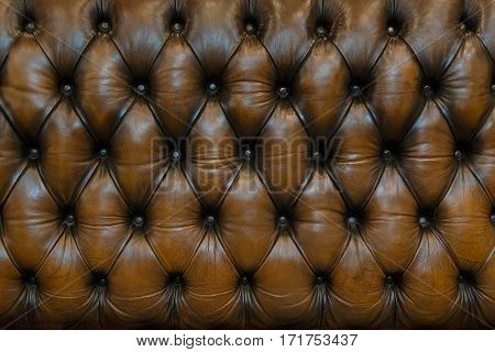 A Genuine Luxury Brown Leather Upholstery Background