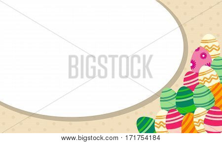 Illustration of easter egg greeting card collection stock