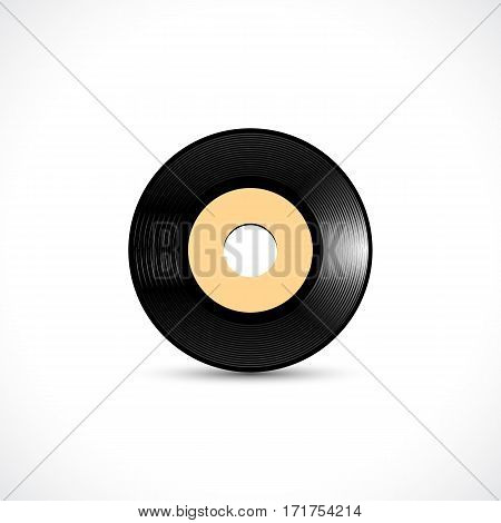 Vinyl disc 7 inch EP wide hole record with shiny grooves