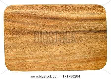 Cutting board isolated on white background. This has clipping path.