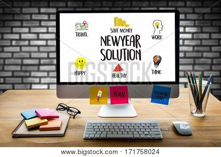 Newyear  Solution  For Goals Start Your Life Lifestyle Begin Beginning Businessman Business