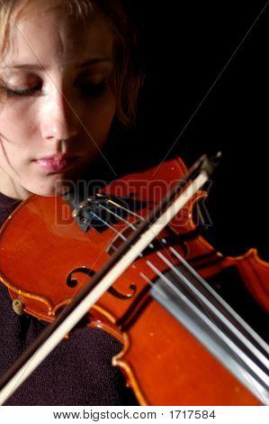 Violinist On Black (Series)