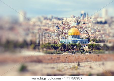 Mousque of Al-aqsa (Dome of the Rock) in Old Town - Jerusalem Israel