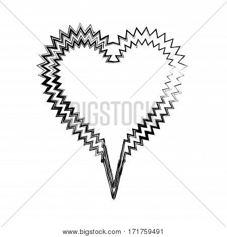 blurred silhouette heart shape callout scream for dialogue vector illustration