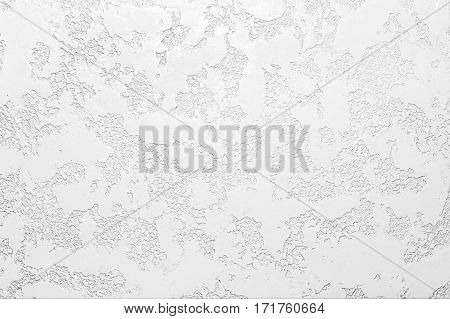 White Plastered Concrete Wall Background Texture Detail