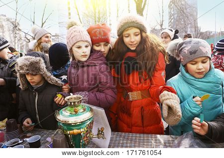 School Kids Celebrate Maslenitsa Pancake Week