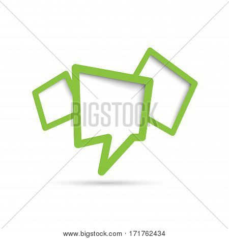 Vector cover speech in green, isolated illustration