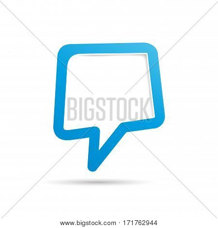 Vector cover speech in blue, isolated illustration