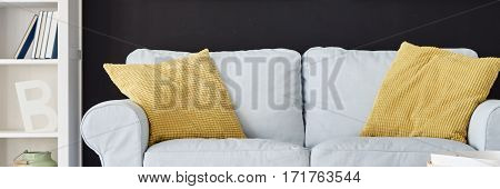 Yellows Pillows On Sofa