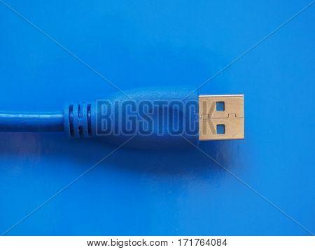 Usb Plug Over Blue
