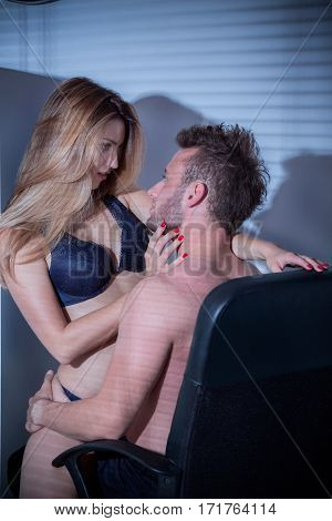 Handsome Employee Having Sex With His Boss