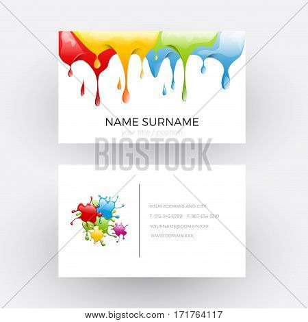 Vector Abstract design concept of painter. Business card