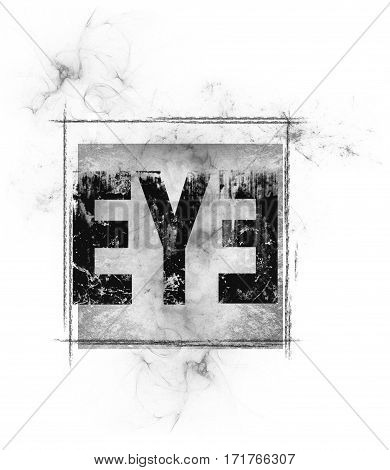 The eye design with smoky background square