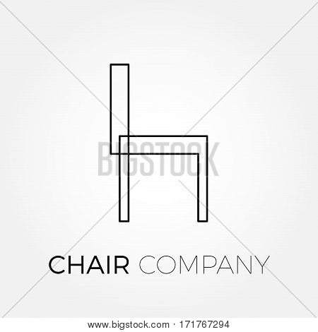 Vector sign stylized chair in iron wire
