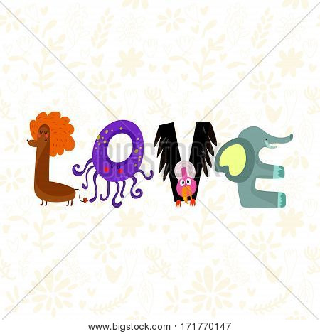 Hand-sketched Typographic Element. Love.text For T-shirt, Fashion, Prints - Stock Vector