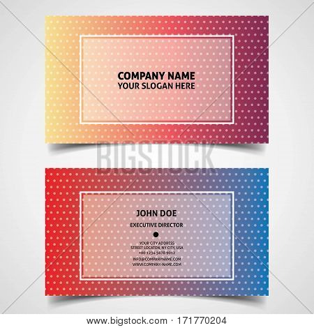 John Doe business card polkadot, This design is suitable for business cards