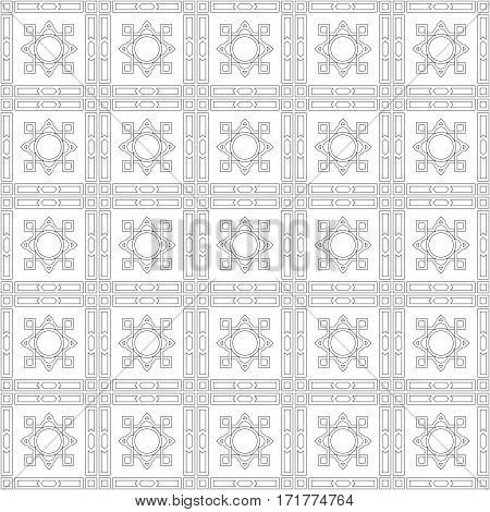 Vector pattern with lines and square isolated on a white background. Minimalistic style.