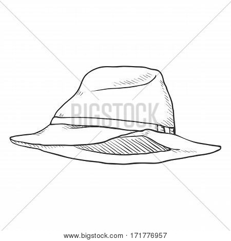 Vector Single Sketch Trilby Hat