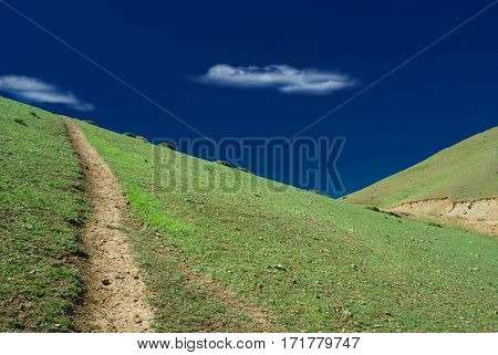 Eastern Crimean landscape in unusual light condition.