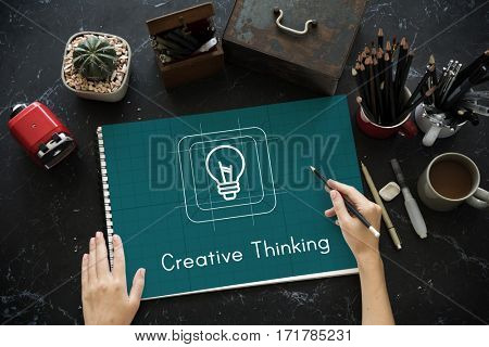 Bulb Ideas Creative Icon Sign Word