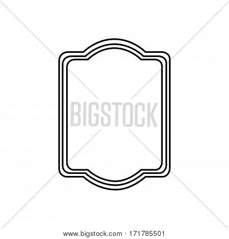 silhouette rectangular heraldic decorative frame vector illustration
