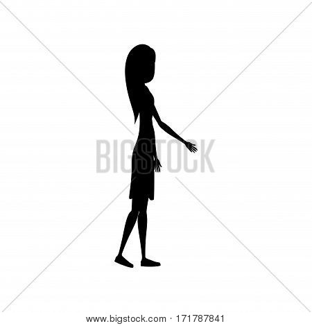 people woman icon image, vector illustration stock design