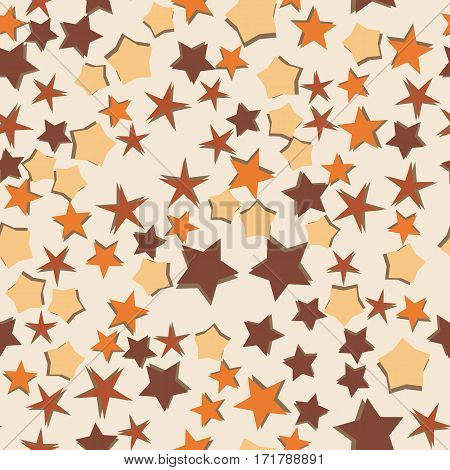 Stars seamless background. Vector pattern. Abstract decoration design.