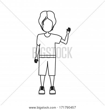 people boy icon image, vector illustration stock design