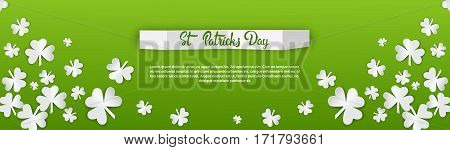 Happy Patrick Day Festival Beer Holiday Poster Fest Flat Vector Illustration