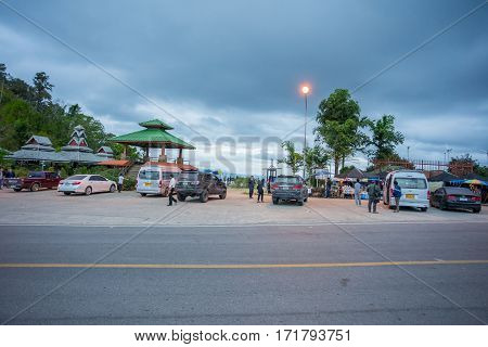 Mae Hong Son, Thailand - JAN 2, 2017: The rest area from Mae Hong Son to Pai in Mae Hong Son province, Thailand