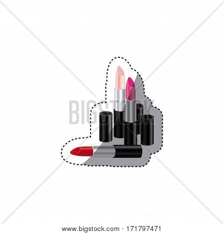 lipstick of woman icon image, vector illustration design