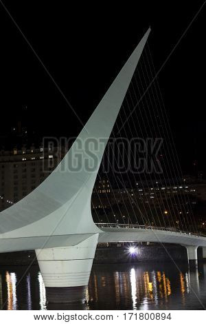 The Woman Bridge. Buenos Aires, Argentina. Puerto Madero By Night