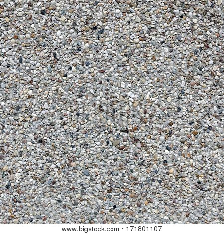 background of square part of concrete tile with gravel top