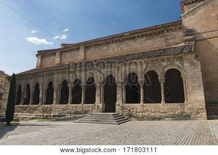 Segovia (Castilla y Leon Spain): exterior of the medieval church of San Millan