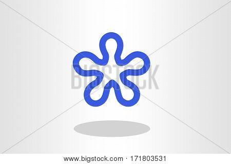 Illustration of blue blob against plain background