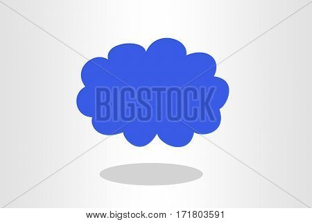 Illustration of blue cloud on plain background
