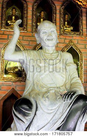 Buddhism Statue religion symbol and travel location of Vietnam