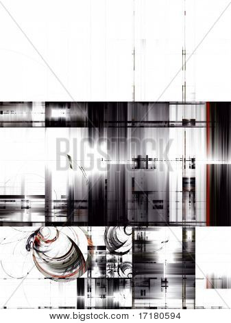 Abstract techno design
