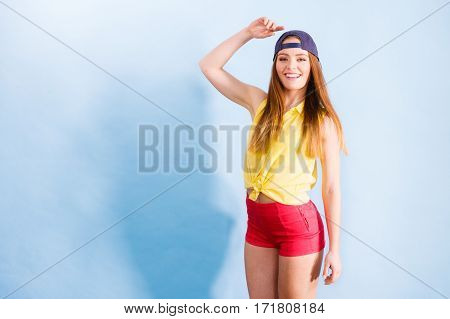 Young Trendy Smiling Female Dancer.