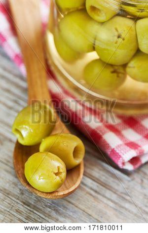 Preserved Pickled Green Olives