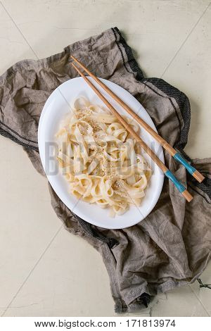 Udon Noodles With Shrimps