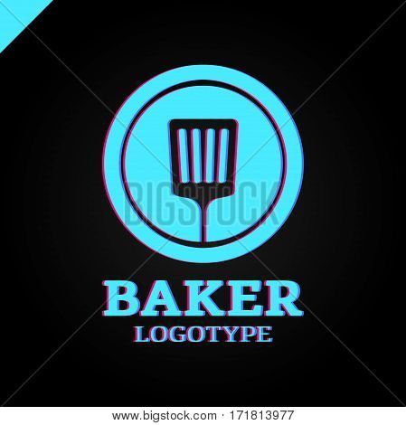 Simple Kitchen Spatula Or Bakery Logo Icon In The Circle