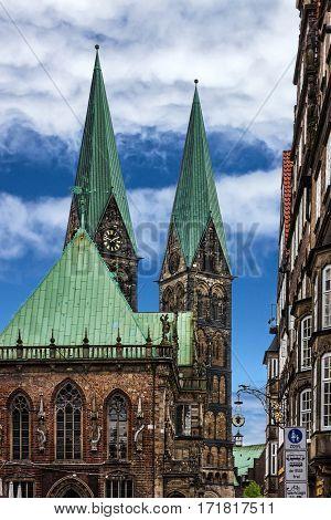 Bremen church, Germany. Cathedral Bremer Sankt Petri Dom